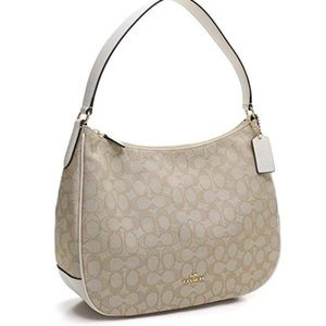 Coach Zip Shoulder Bag In Signature Jacquard